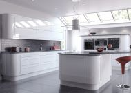 Firbeck Supergloss White Kitchen Doors