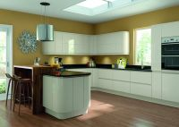 Lacarre Cream Gloss Handleless Kitchen